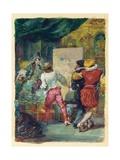 Moliere's 'Le Sicilien Our L'Amour Peintre', Lemoisne, No.1357 Giclee Print by Eugene-Louis Lami