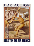 For Action, Enlist in the Air Service, 1917-20 Giclee Print by Otho Cushing
