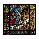 Window W14 Depicting Christ, Attended by an Angel, Descends into Hell Breaks the Gates and Finds… Giclee Print