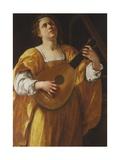 Saint Cecilia, 1620 Giclée-tryk af Artemisia Gentileschi