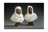 Busts of a Sheikh and a Sheikha, C.1865-70 Giclee Print by Pietro Calvi