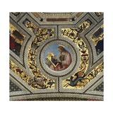 Vault of the Presbytery with Luke the Evangelist, Santa Maria Del Popolo, Rome, C.1484-92 Giclée-tryk af Bernardino di Betto Pinturicchio