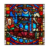 Window W51 Depicting the Birth of St Nicholas Giclee Print