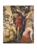 St. John the Baptist Preaching Giclee Print by Paolo Veronese