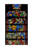 Window W8 Depicting Details of the Tree of Life Giclée-Druck