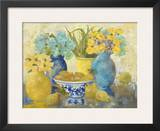 Still Life With Roses And Pears Prints by Lorrie Lane