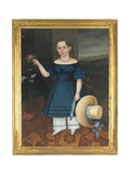 Portrait of Martha Otis Bullock (Girl in a Blue Dress), 1841-42 Giclee Print by Joseph Whiting Stock