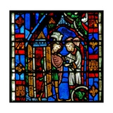 Window W51 Depicting St Sever: as He Is Elected Bishop a Dove Settles on His Head Giclee Print