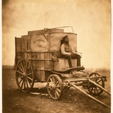 The Photographer's Van with Marcus Sparling in the Crimea, 1855 Photographic Print by Roger Fenton