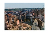 View of Verdun after 8 Months of Bombing, September 1916 Giclee Print by Jules Gervais-Courtellemont