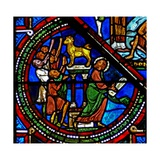 Window W15 Depicting Moses with the Tablets of the Law and the Golden Calf Giclee Print