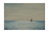 Seascape with a Ketch, Off Adelaide, South Australia Giclee Print by James Ashton