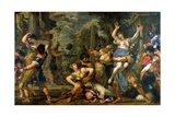 Rape of the Sabines Giclee Print by Pietro Da Cortona