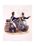Uniform of the Royal Artillery, from 'Costume of the British Empire, According to the Last… Giclee Print by Charles Hamilton Smith