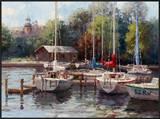The Village Dock Poster by  Furtesen