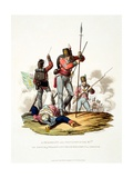 Uniform of a Sargeant and Privates of the 87th or Prince of Wales's Own Irish Regiment on… Giclee Print by Charles Hamilton Smith