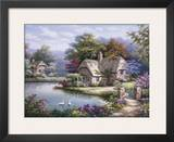 Swan Cottage I Prints by Sung Kim