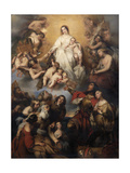 Our Lady of Mount Carmel Giclee Print by Gustave Or Gustaaf Wappers