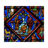 Window W15 Depicting a Scene in the Good Samaritan Window: the Pilgrim Is Ignored by a Priest and… Giclée-Druck