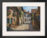Rue de Village Print by Sung Kim