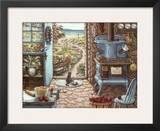 Blue Stove Prints by Janet Kruskamp