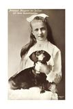 Ak Prinzessin Margarethe Von Sachsen, Dackel Photographic Print
