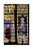 Window W210 Depicting St Denis with the Donor Charles VI Giclee Print