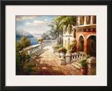 Seaside Terrace Prints by Roberto Lombardi