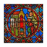 Window S4 Depicting St Agatha's Tomb with Pilgrims from Far and Wide Giclee Print