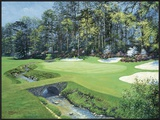The 13th At Augusta, Azalea Print by Bernard Willington