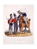 Uniform of the 3rd Hussars, Infantry and Light Infantry - the King's German Legion, from 'Costume… Giclee Print by Charles Hamilton Smith