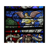 Window W13 Depicting a Musician Angel Giclee Print