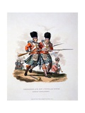 Uniform of the Grenadiers of the Royal and of the Gordon Highlanders, from 'Costume of the… Giclee Print by Charles Hamilton Smith