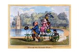 Going to Hobby Fair, 1835 Giclee Print by Isaac Robert Cruikshank