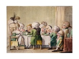 The Meal, C.1790 Giclee Print by Carlo Lasinio
