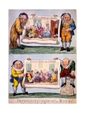 Caricature Ornaments for Screens, 1800 Giclee Print by Isaac Cruikshank
