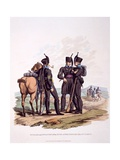 Uniform of Hussars and Infantry and the Duke of Brunswick's Oel's Corps, from 'Costume of the… Giclee Print by Charles Hamilton Smith