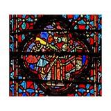 Window W4 Joshua Captures Hazor Josh Xi 10-11 Giclée-Druck