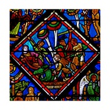 Window W15 Depicting a Scene in the Good Samaritan Window: the Pilgrim Is Attacked Giclee Print