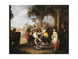 The Parable of the Prodigal Son - the Prodigal Son Chased Away by the Harlots Giclee Print by Hieronymus Janssens