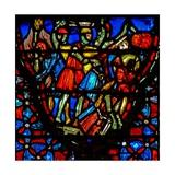 Window W4 Joshua and the Gibeonites Confront Five Amorite Kings Josh X 10 Giclée-Druck