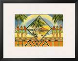 Hawaii Travel Brochure, c.1943 Art