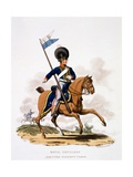 Uniform of the Royal Artillery, Mounted Rockett Corps, from 'Costume of the British Empire,… Giclee Print by Charles Hamilton Smith