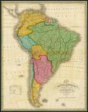Map of South America, c.1826 Poster by Anthony Finley