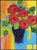 Spring Blooms In Blue Vase II Prints by Natasha Barnes