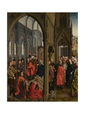 The Flowering of Joseph's Rod and the Betrothal of the Virgin Giclée-Druck von Rogier van der Weyden