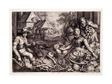 Autumn Produce and Game, Print Made by Jacob Matham, 1603 Giclee Print by Pieter Aertsen