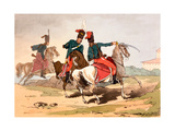 Hussars in Hungarian Style Uniforms, Illustration from 'The Manners, Customs and Amusements of… Giclee Print by John Augustus Atkinson