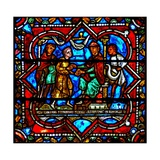 Window W17 Depicting a Scene from the Prodigal Son Story: He Claims His Heritage Giclee Print