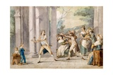 A Game of 'Blind Man's Buff', C.Late C18th Giclee Print by George Morland